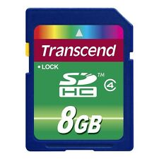 Transcend SDHC 8GB Class 4 Secure Digital Memory Card SD 8 GB for Nikon Canon