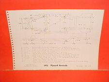 1973 PLYMOUTH BARRACUDA CUDA FURY SEDAN SUBURBAN WAGON FRAME DIMENSION CHART