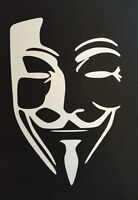 Anonymous Mask Guy Fawkes Sticker Decal Vinyl for Vauxhall Zafira Meriva Ampera