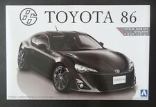 """~ Value! ~ Aoshima 1/24 TOYOTA 86 GT """"Custom Wheels"""" *with LHD parts #002230"""