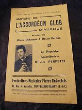 Partition Marche de l'accordéon club d'Auboué Olivier Perfetti  Music Sheet