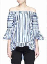 Nicholas Washed Stripe Off The Shoulder Top Size:4 $375 NWT