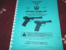 RUGER  MARK 111,  AUTOLOADING PISTOLS    44 Pages