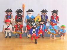 PLAYMOBIL - 11 MIXED PIRATES, AND 1 CAPTAIN WITH ACCESSORIES