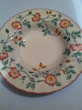 Churchill China England Briar Rose Set of 7 Rimmed Soup Bowls 8 3/4""