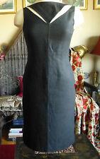 New sz 6 Oscar de la Renta signature collection runway black linen dress, $2495