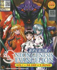 JAPAN DVD Anime NEON GENESIS EVANGELION TV 1-26 End + 5 Movie English Subtitle