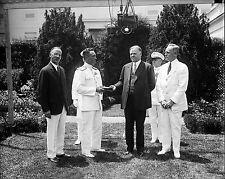 President Herbert Hoover presents special gold medal to Admiral Byrd June, 1930