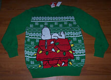 Size XL Mens Ugly Christmas Sweater Peanuts Snoopy