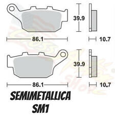 BRAKING PASTIGLIE FRENO SM1 BRAKE PADS HONDA FORESIGHT 250 2007 POSTERIORE REAR