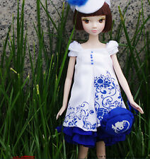 11'' Pretty Elegance Blue&White Dress Doll Of Kurhn Chinese Barbie Doll Figure