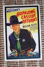 Hopalong Cassidy Returns Lobby Card Movie Poster Western William Boyd