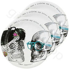 Halloween Skeleton Crew  Paper Plates Halloween Party Table Decoration Accessory