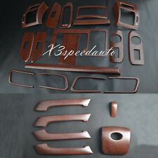 Wood Grain Dash Trim Kit Full Set For TOYOTA FJ150 10-16 Prado Land Cruiser LHD