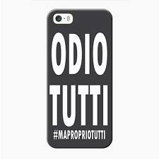 Cover Custodia Rigida per iPhone 5-5s Frasi Odio Tutti