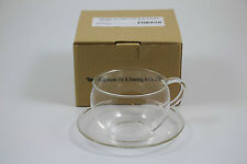 Twinings Glass Cup and Saucer Beautiful Design  Indian Tea Company