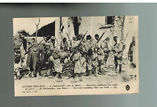1915 Mint France Army postcard WW 1 Morrocan Colonial Troops Examine Booty
