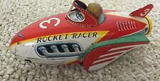 VINTAGE JAPAN TIN SPACE ROBOT ROCKET RACER NO 3 MODERN TOYS
