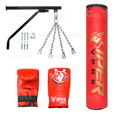 5ft pieno Pugilato Punch Bag STAFFA CATENA Kick MMA Palestra Fitness Training Club