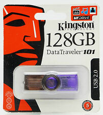 Kingston 128 GB NEU Blau USB 2.0 Stick Data-Traveler Flash Drive Laufwerk 128GB