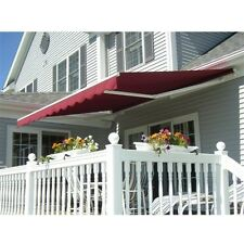 ALEKO Motorized Retractable Patio Awning 16 X 10 Ft Burgundy Color