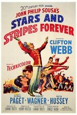 STARS AND STRIPES FOREVER Movie POSTER 27x40 Clifton Webb Debra Paget Robert