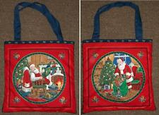 New tote hand school shoe gift bag purse Christmas Santa Claus