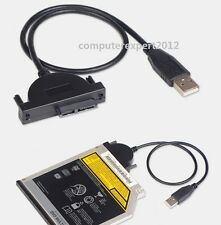 USB 2.0 Adapter Cable for SATA Laptop Optical Drive SuperDrive DVD ODD CD-ROM