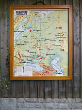 VINTAGE DOUBLE SIDED MAP OF EUROPEAN RUSSIA & USSR AND NEIGHBOURS - PAPER 1960's