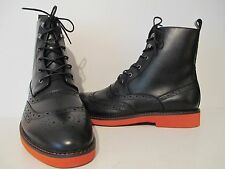 Giovanni Mens 6598 Leather Caual Ankle Dress Boot Black Size 8.5