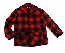 Mackinaw Cruiser Jacket Large Plaid JC Higgins Sears 1930's vtg Hercules Red