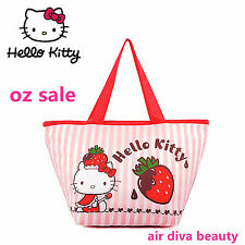 Girl Child Lady Hello Kitty School Work Lunch Box Tote Organizer Insulated Bag