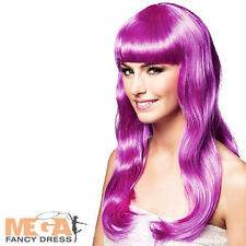 Icy Purple Chique Wig Ladies Fancy Dress Halloween Celebrity Womens Accessory