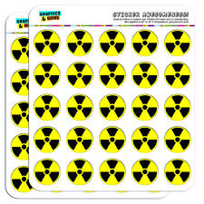 "Radioactive Nuclear Warning Symbol 1"" Scrapbooking Crafting Stickers"