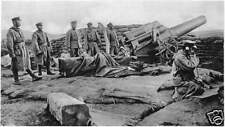 "Japanese Army Heavy Artillery Tsingtao China 1914 World War 1, 7x4"" Photo 1"