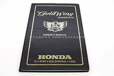New Owners Manual 1992 GL1500 Goldwing Interstate OEM Honda Operators Book  #K53