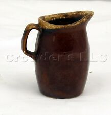 Brown Ceramic Oven Proof Foam Drip Pattern Creamer Pitcher Cup - Made in USA
