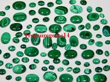 150CT WHOLESALE LOT NATURAL GREEN MALACHITE CALIBRATED CABOCHON HOT GEMSTONE AAA