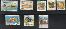 stamps MALAYSIA A100 A117 A125(2) A126 A138 A144 A146 LOT