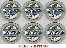 HOEGAARDEN BELGIAN WHITE ALE 6  BAR TOP SPILL MAT BEER COASTERS NEW