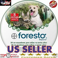 2 X Bayer Seresto Foresto Flea & Tick Collar for Small Dogs & Cats under 18lbs
