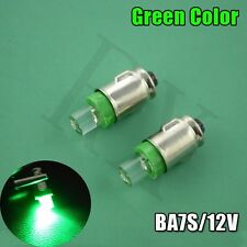 10 x BA7S DIP 12V Lampe Tacho Cockpit Oldtimer Mofa Moped Instrument GREEN COLOR