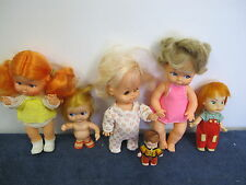 VINTAGE LOT OF DOLLS (6)  HONG KONG ORANGE HAIR HORSMAN UNEEDA PEE WEE PLAYMATES