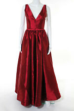 ML Monique Lhuillier Red Pomegranate Gown Size 4 New $898 10247020