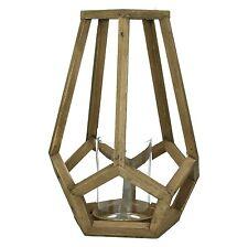 Windlicht Simplist Ethno Holz mit Glaseinsatz  38 cm  Pomax Belgien
