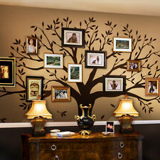 Family Tree Wall Decal - Tree Wall Decal for Picture Frames - Chestnut Brown