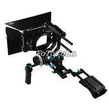 Fotga Pro DSLR follow focus 15mm rod rail matte box shoulder support rig kit set