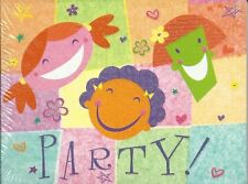 Party Invitation 10 Pack Kids Sparkle Flower Girls Hearts Glitter Cards Birthday