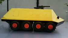 VINTAGE MILITARY TRANSPORTER AMPHIBIAN TANK TRUCK TOY USSR CCCP BATTERY OPERATED
