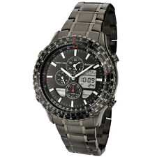 Mens Accurist ana/digi chronograph black PVD bracelet watch MB1036BB